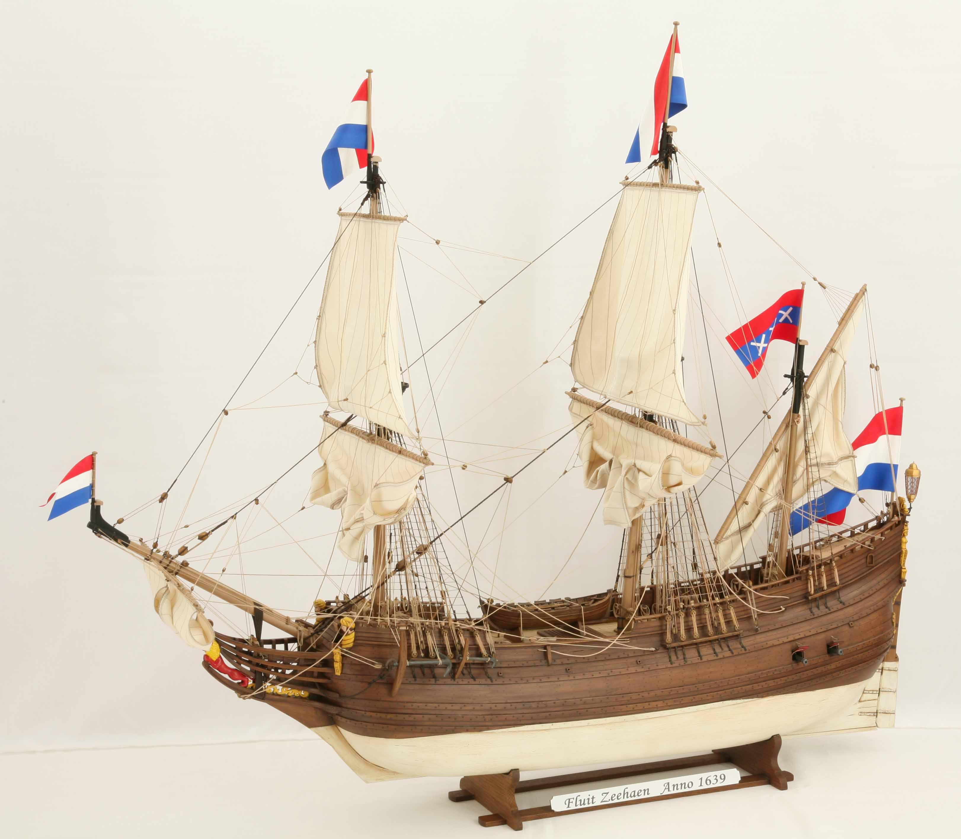 Drawn ship fluit Vessels ZEEHAEN jpg Dutch
