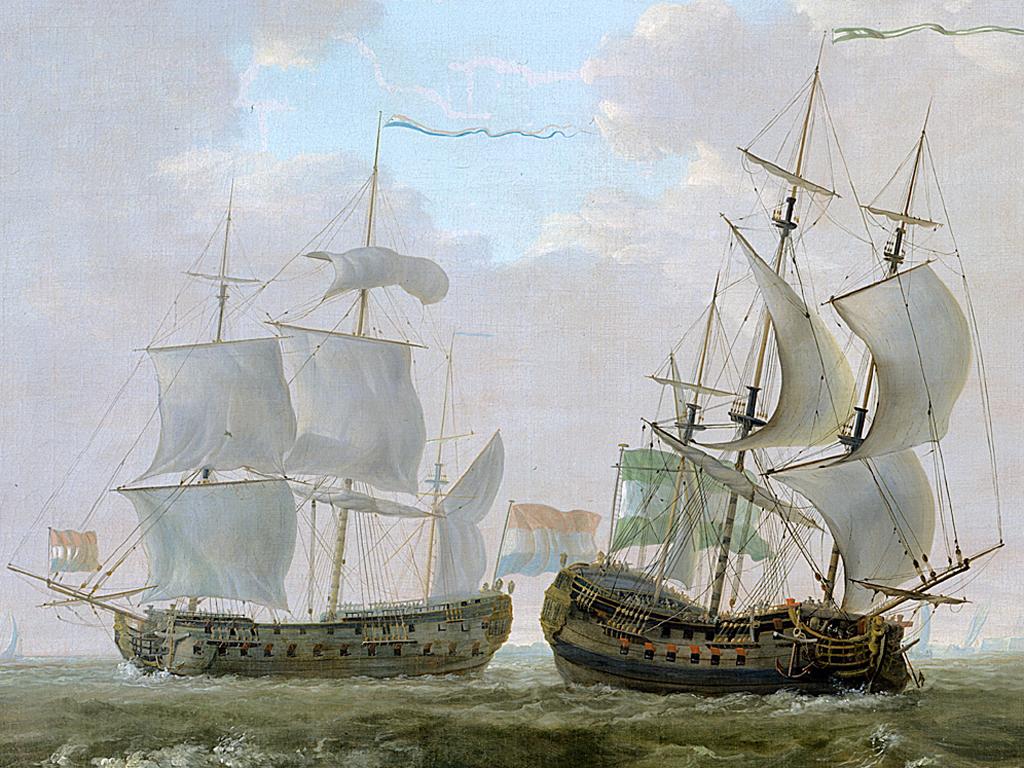 Drawn ship fluit The for Richard's warship voc