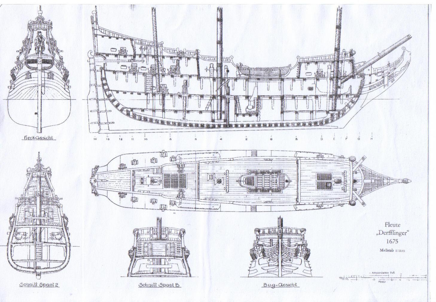 Drawn ship fluit Trading Dutch 189 Fluyt2