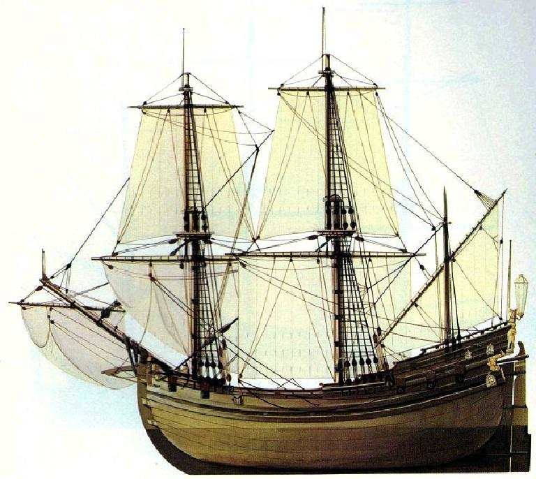 Drawn ship fluit To single rigged Arab were