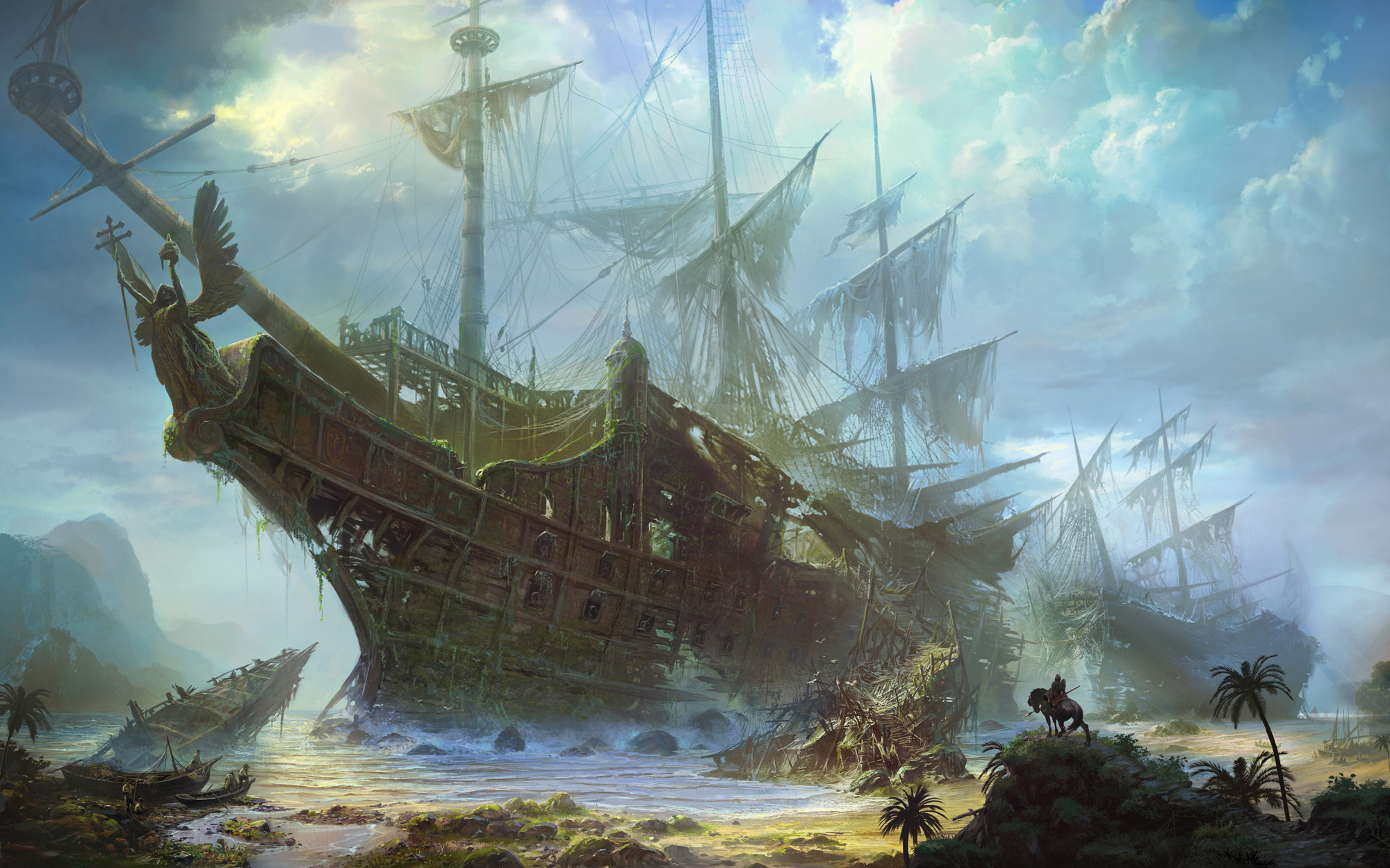 Drawn ship ghost Backgrounds 255 Wallpaper Background Ship