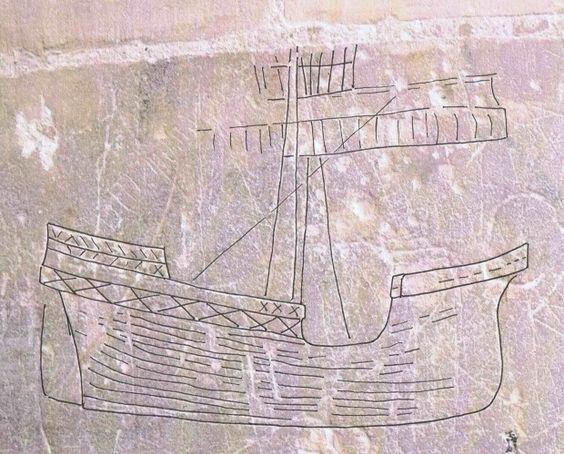 Drawn ship graffito In survey graffiti graffiti graffito