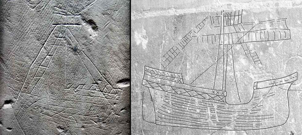 Drawn ship graffito Sailors: in of Ships1 crypto870