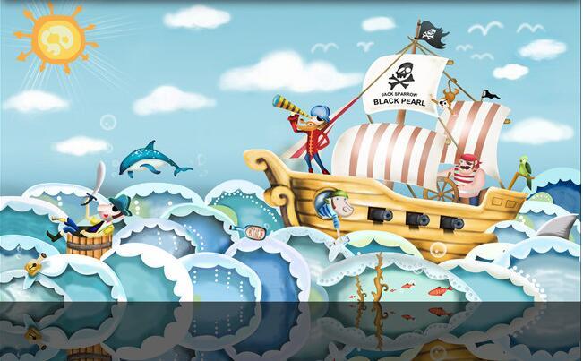 Drawn ship hd 3d Aliexpress non hand wal Hd