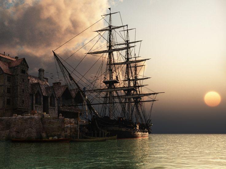 Drawn ship hd 3d Sailing 1600 best 88 ships