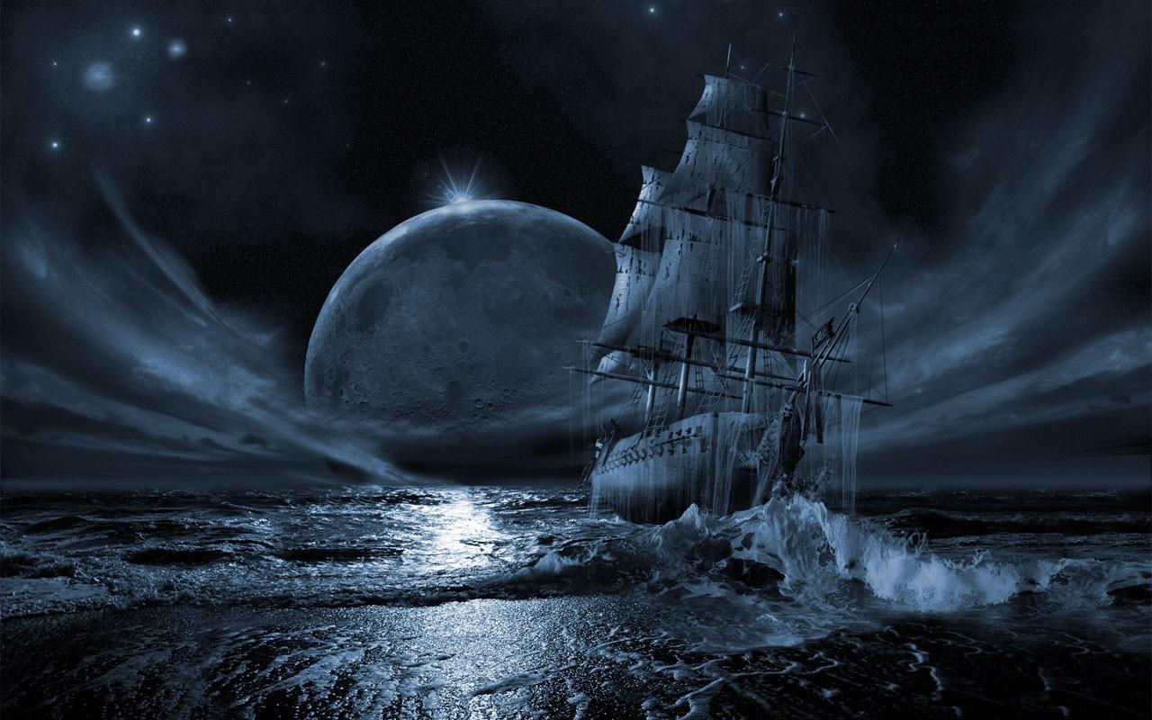 Drawn ship hd 3d Ocean HD pirate ~ Seas