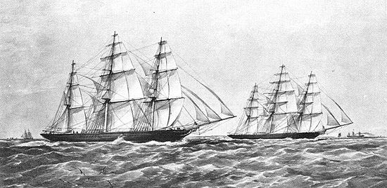 Drawn ship indian arrival day The Compromise of 1866 Race