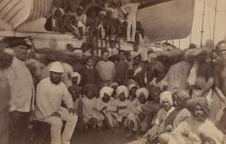 Drawn ship indian arrival day INDENTURE  SETTLEMENT ARRIVAL AND