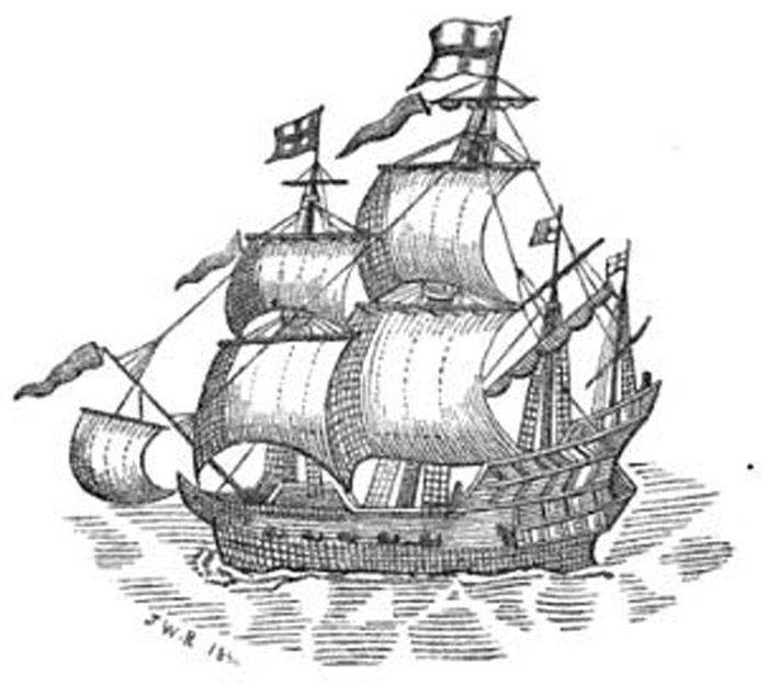 Drawn ship indian arrival day The The its Malice at