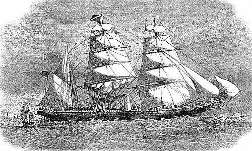 Drawn ship indian arrival day Tea Beginning of 1866 Race