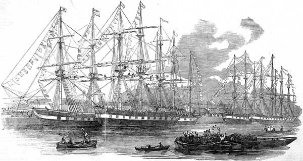 Drawn ship indian arrival day 19th Ships Ships century in