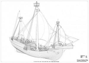 Drawn ship medieval ship Ships drawing Newport Medieval