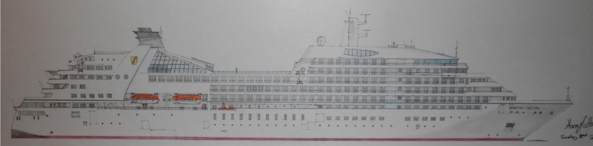 Drawn ship passenger ship Incredibly ships  detailed The