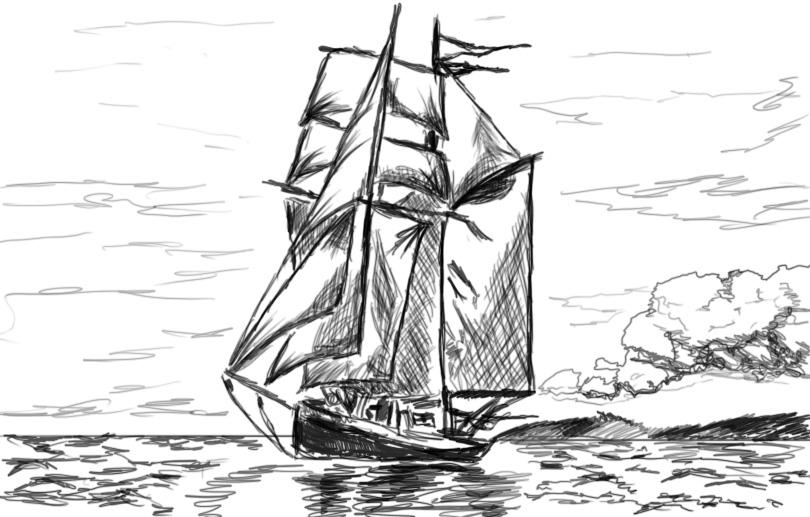 Drawn ship pencil drawing Ship DeviantArt rwysig by rwysig