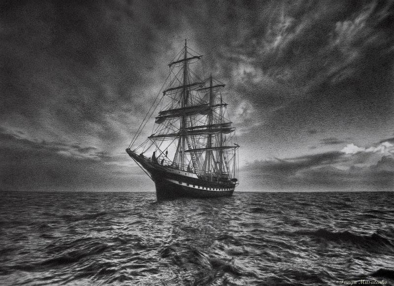 Drawn ship pencil drawing Inspiration Emporium and Art pirate