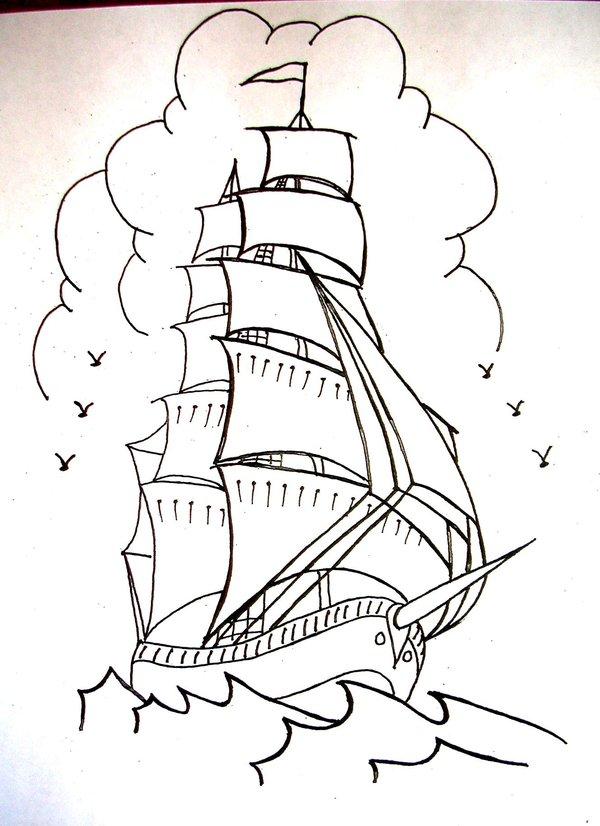 Drawn ship sailor ship Onfire4Him on DeviantArt ship ship