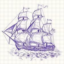 Drawn ship sea Google  Holman: drawing ship