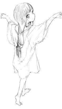 Drawn shirt anime ART baggy anime long and