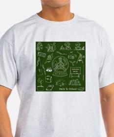 Drawn shirt back T Shirts & School to