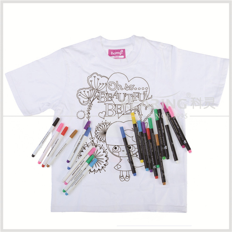 Drawn shirt fabric marker Marker marker Kearing t For