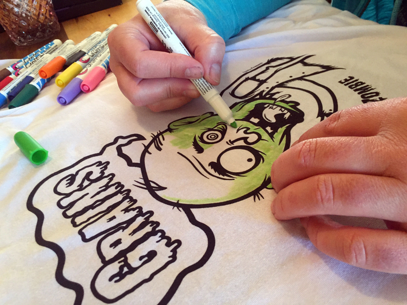 Drawn shirt fabric marker With T coloring Your 05