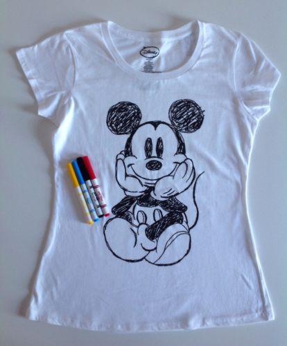 Drawn shirt fabric marker Disney Black Mouse shirt Fabric