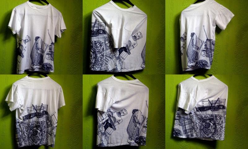 Drawn shirt fabric marker Fabric a Polish shirt The