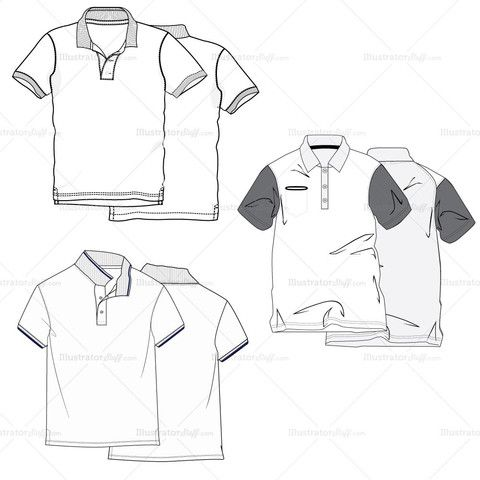 Drawn shirt fashion flat Images Polo Shirt Fashion Pinterest
