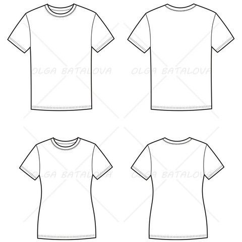 Drawn shirt fashion flat Shirt Fashion and and Templates