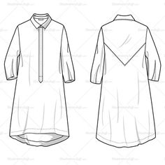 Drawn shirt fashion flat To Visit Tiered Shirt