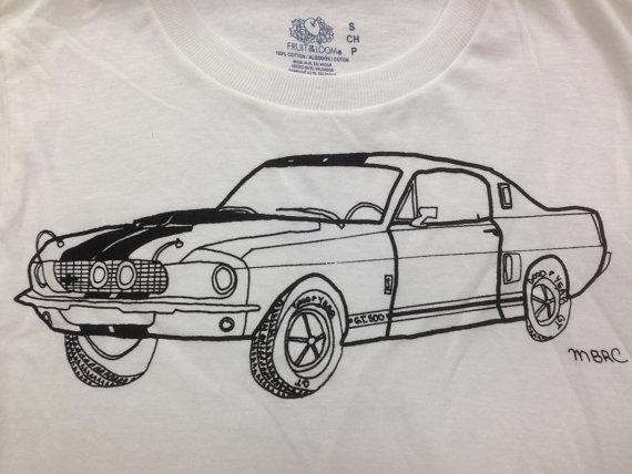 Drawn shirt muscle Car Tee Tee Shirt Car
