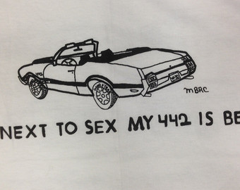 Drawn shirt muscle Garage Shirt Olds Tee 442