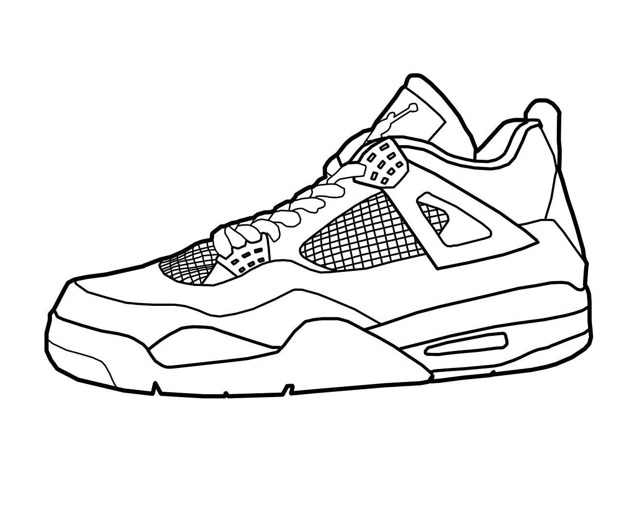 Drawn shoe Coloring Drawing Pages Sub Drawing