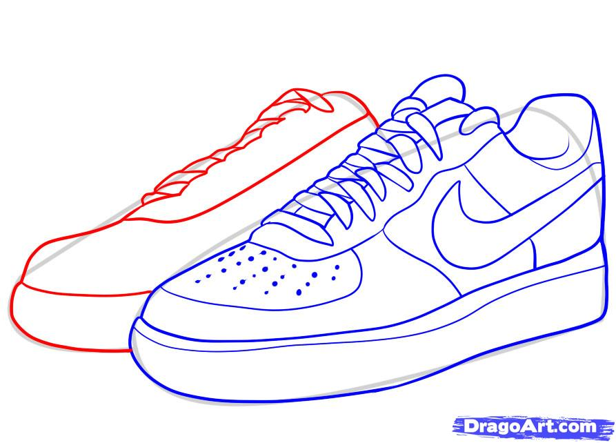Drawn shoe By force  how Step