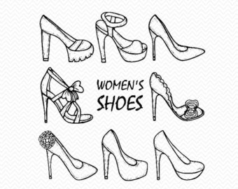 Drawn shoe Shopping Hand Etsy drawn svg
