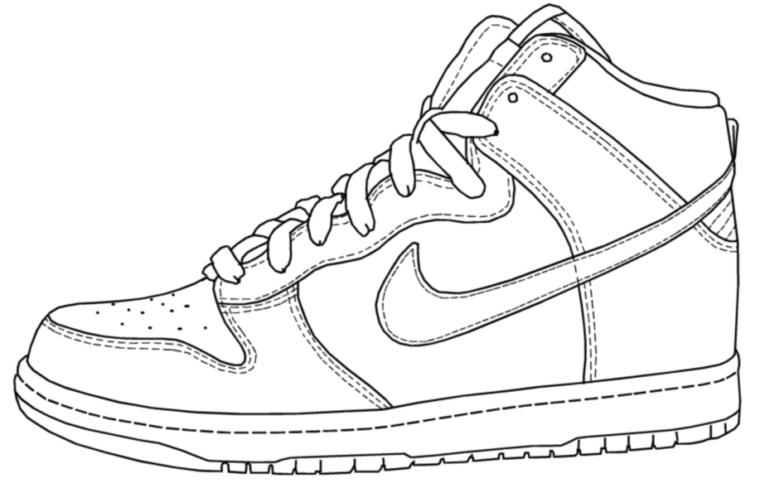 Drawn shoe  Sketch All Of Coloring