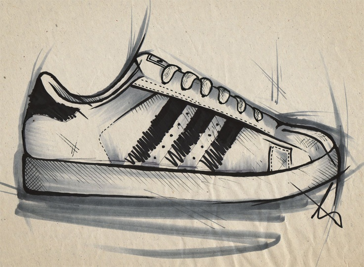 Drawn sneakers cute shoe Illustrations ♥ on superstar Shoes