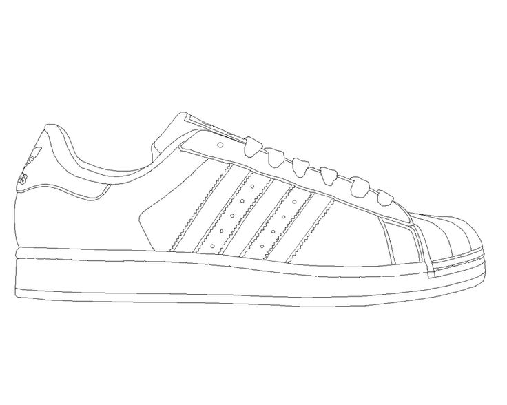 Drawn shoe adidas shoe Superstar template Adidas Superstar by