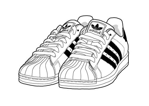 Drawn shoe adidas shoe Illustration by on 256 Sneakers