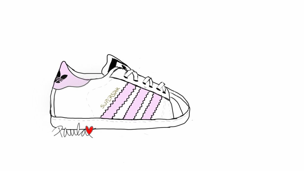 Drawn shoe adidas shoe Drawing by on Adidas Drawing