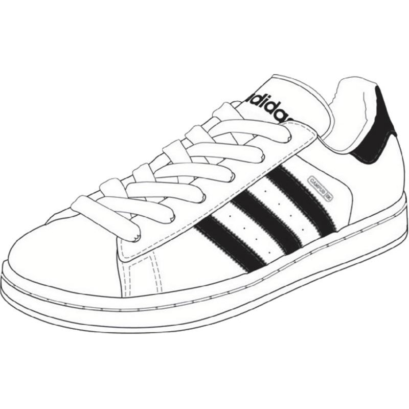 Drawn shoe adidas shoe Campus Sk / Shoes Running
