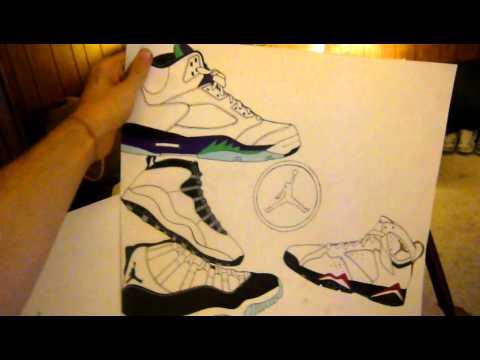 Drawn shoe air jordan shoe SHOE SHOE YouTube ART AIR