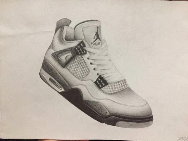 Drawn shoe air jordan shoe (print) Jordan Etsy air jordan