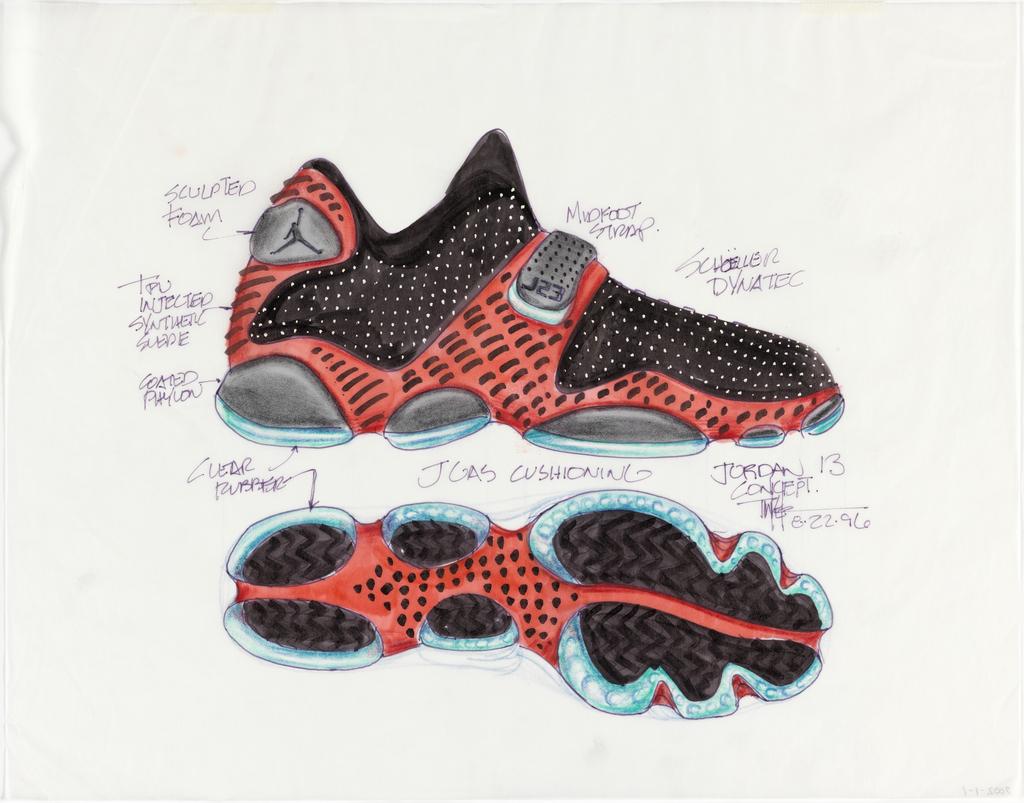 Drawn shoe air jordan shoe 1996 Design size XIII Air