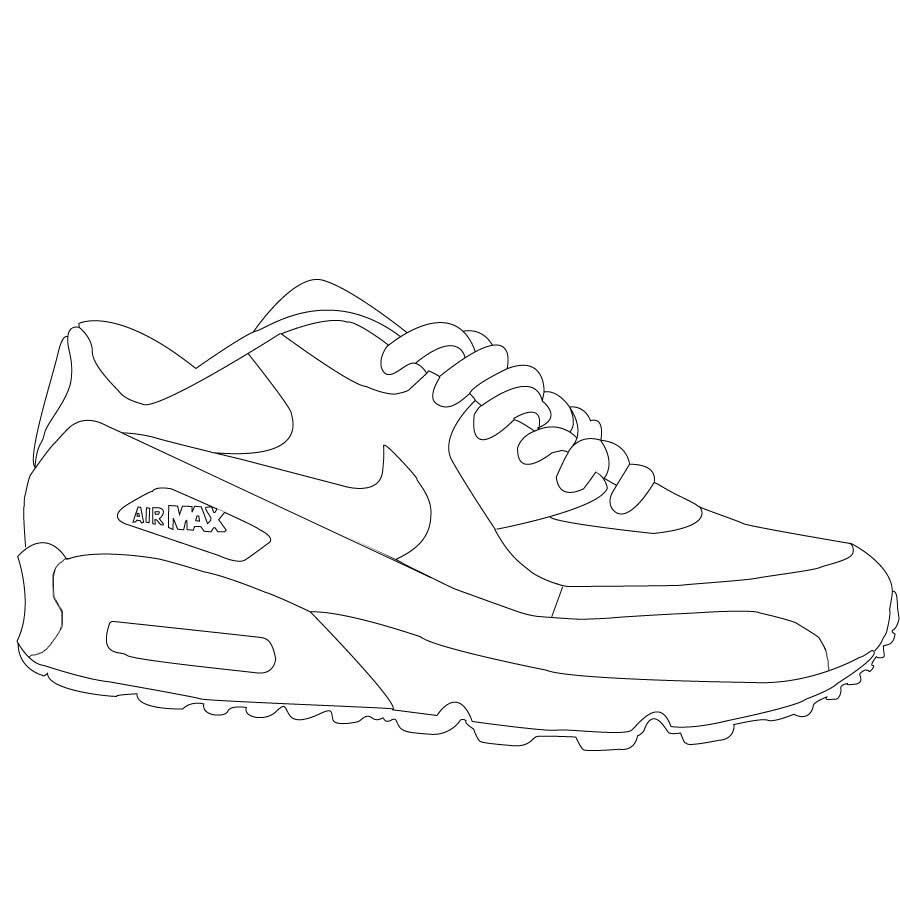 Drawn shoe air jordan shoe Pinterest Jordan Shoes Coloring Coloring