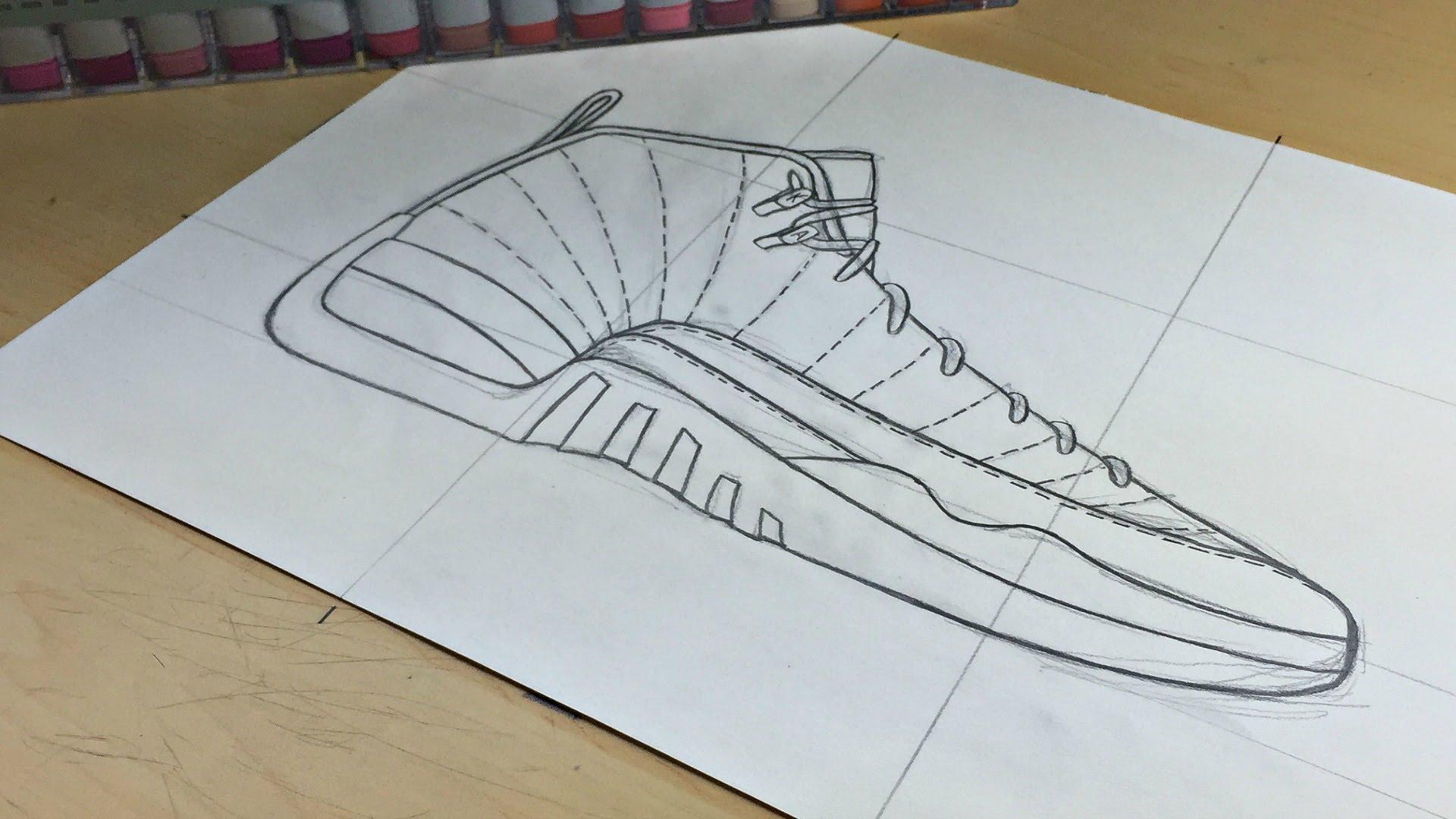 Drawn shoe air jordan shoe Air w/ Draw: YouTube To