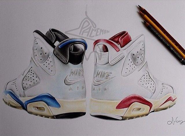 Drawn shoe air jordan shoe 37 6 drawing Pinterest and