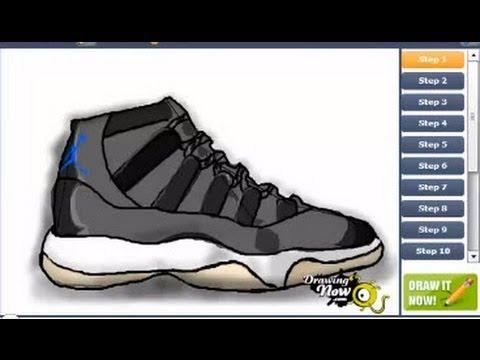 Drawn shoe air jordan shoe Jordan Jam Draw Draw How
