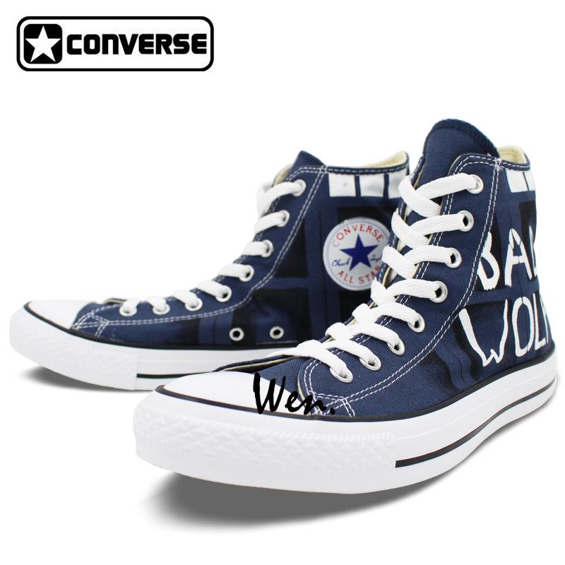 Drawn shoe all star Drawn Blue Canvas  Shop