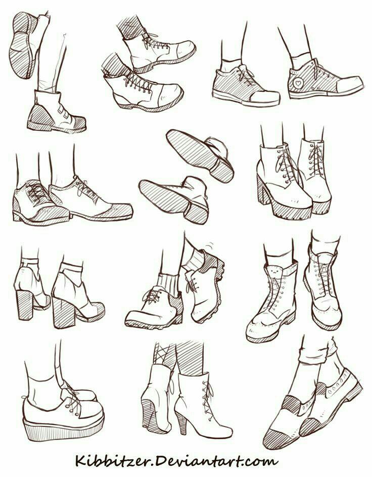 How Shoes; Manga/Anime Draw Manga/Anime